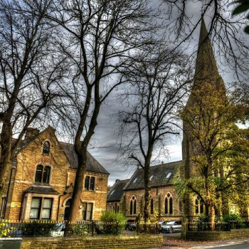 The Cloisters and St James' Church, Waterfoot